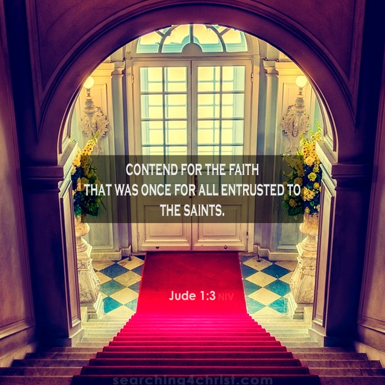 Jude 1:3 Faith Once Entrusted