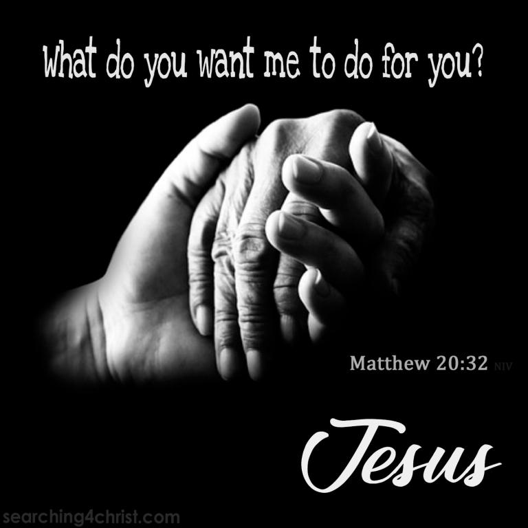 Matt 20:32