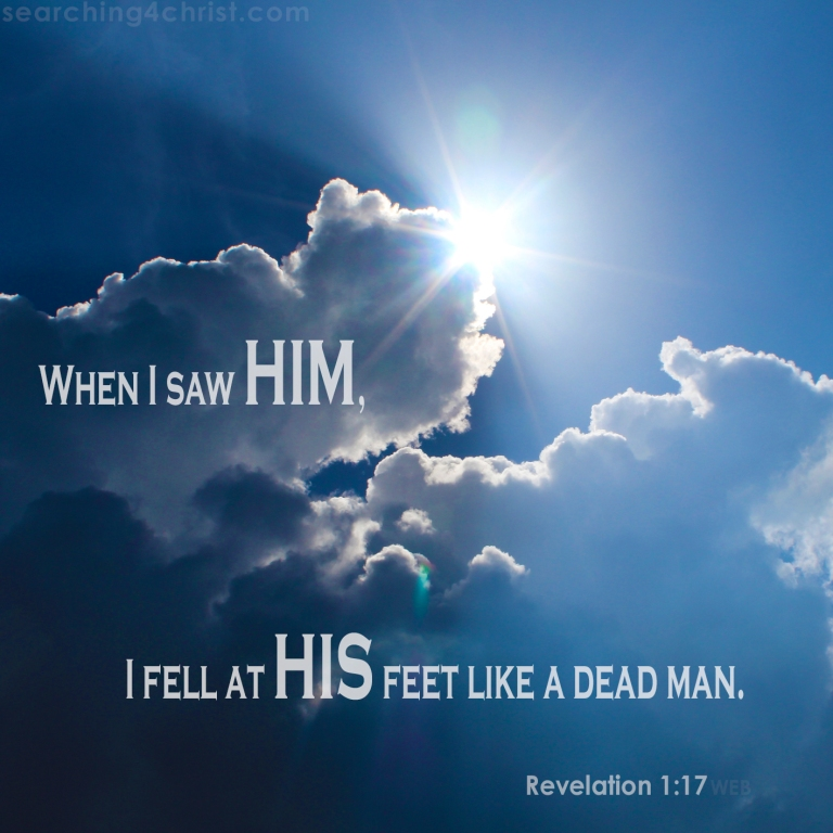 Revelation 1:17 To See His Face