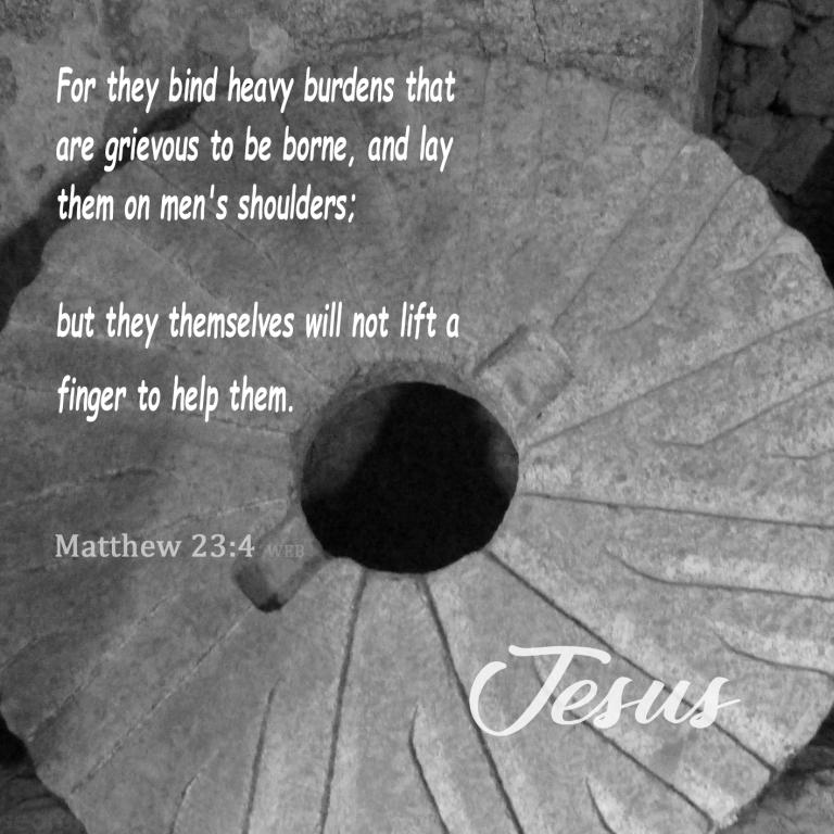 Matthew 23:4