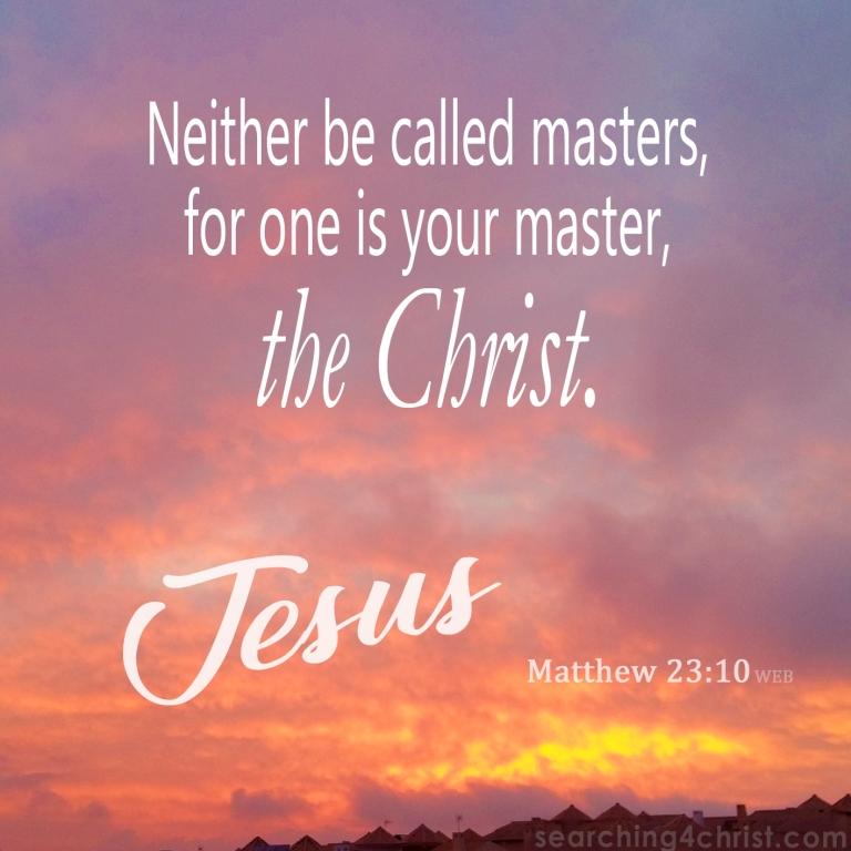 Matthew 23:10