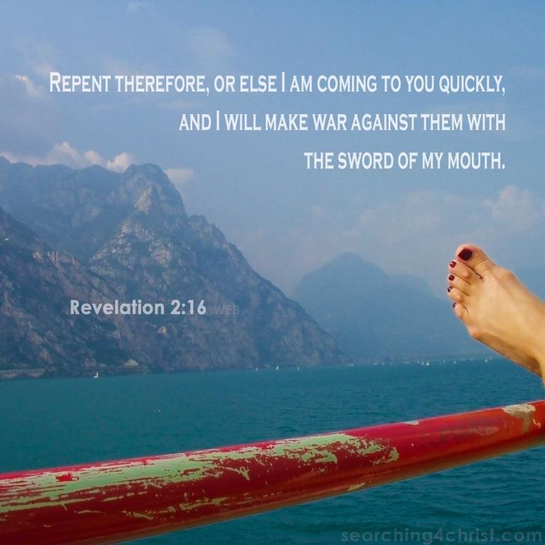 Revelation 2:16 Repent