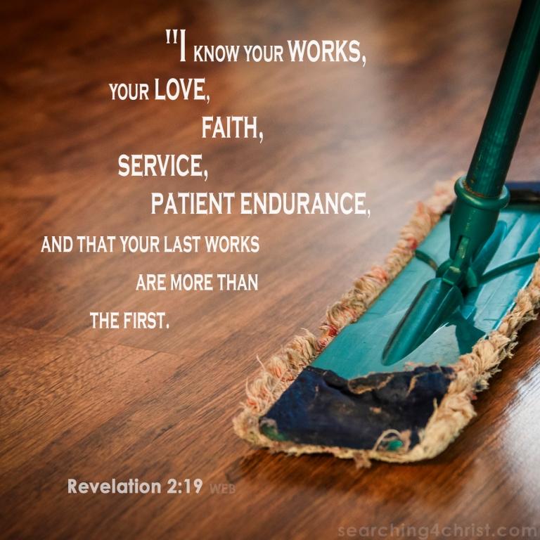 Revelation 2:19 Loving Service