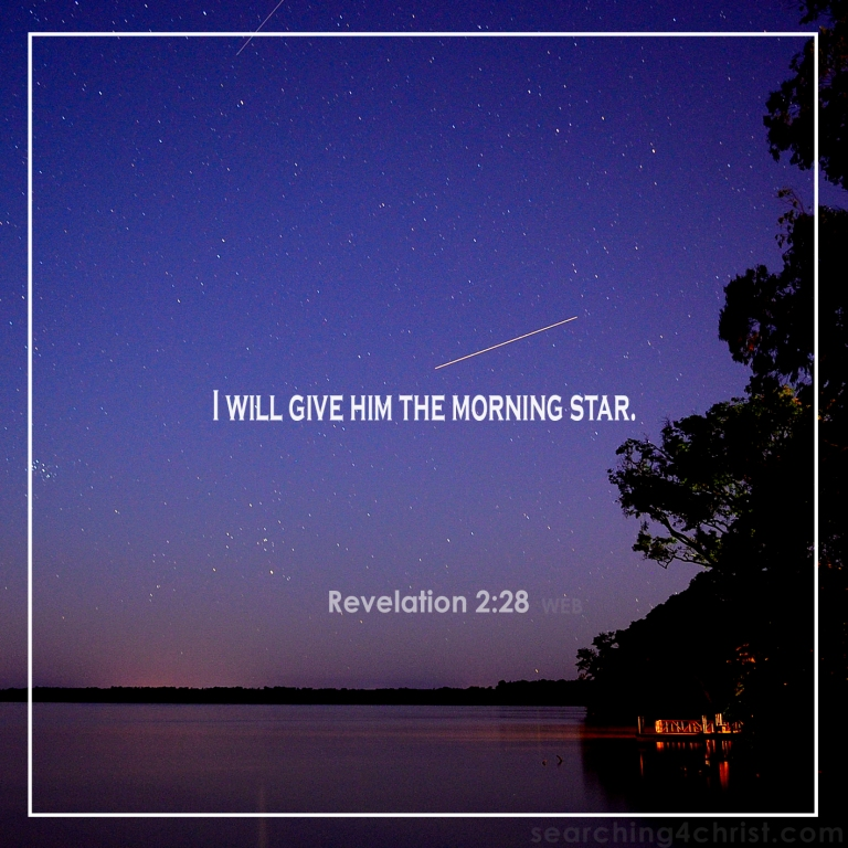 Revelation 2:28 the Morning Star