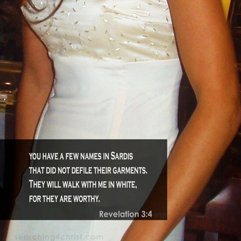 Revelation 3:4 With Him in White