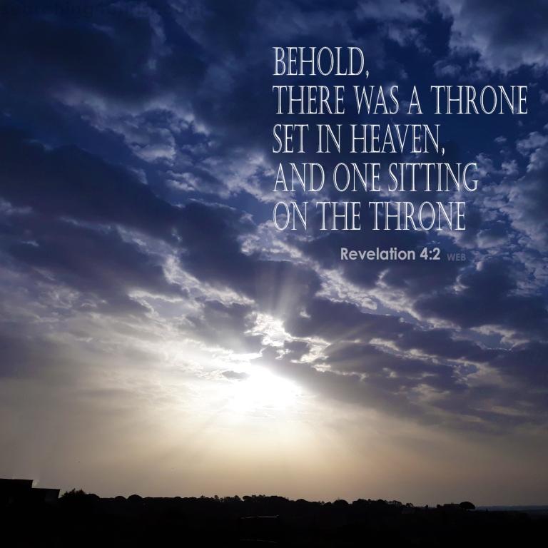 Revelation 4:2 On the Throne