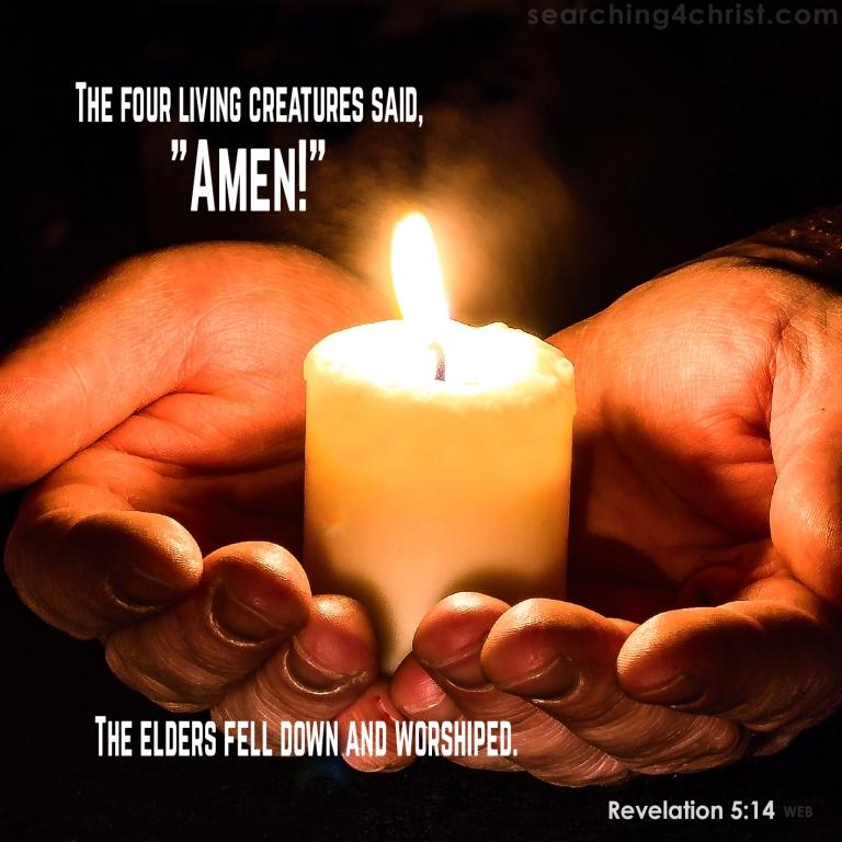 Revelation 5:14 The Elders Worship