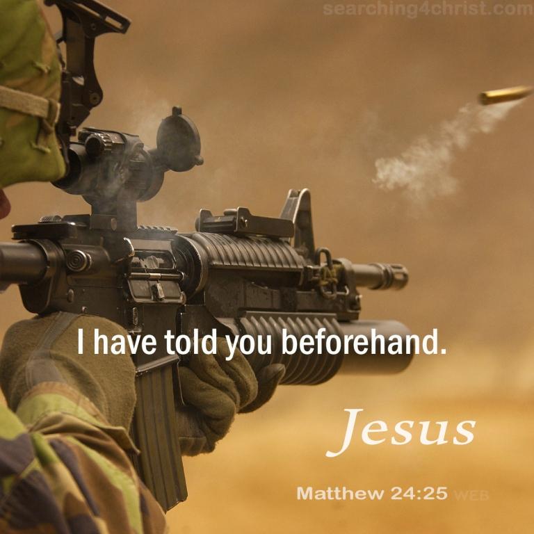 Matthew 24:25