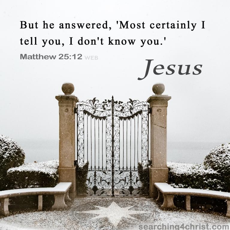Matthew 25:12