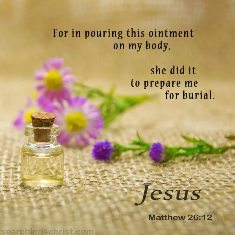 Matthew 26:12