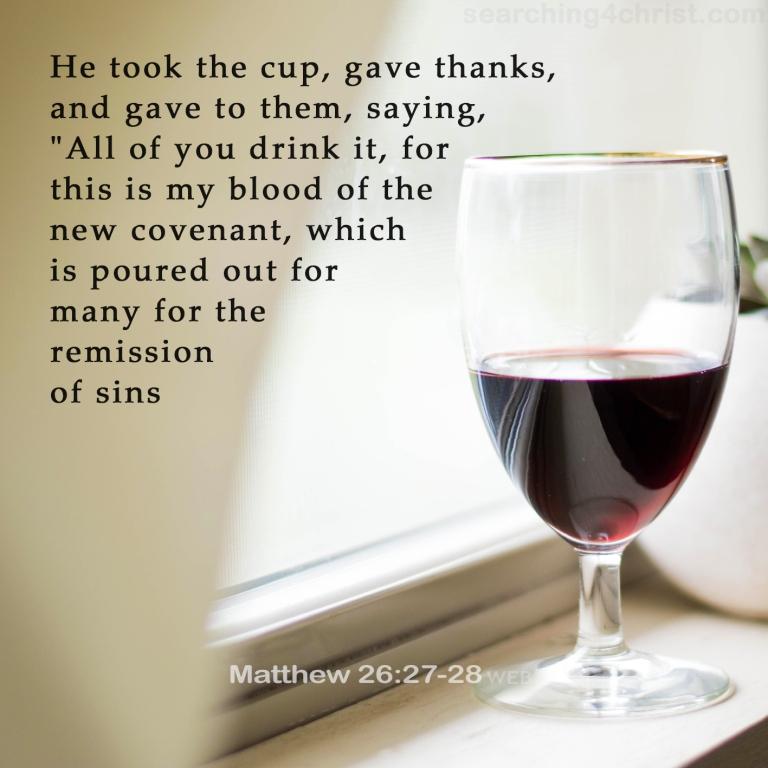 Matthew 26:27-28