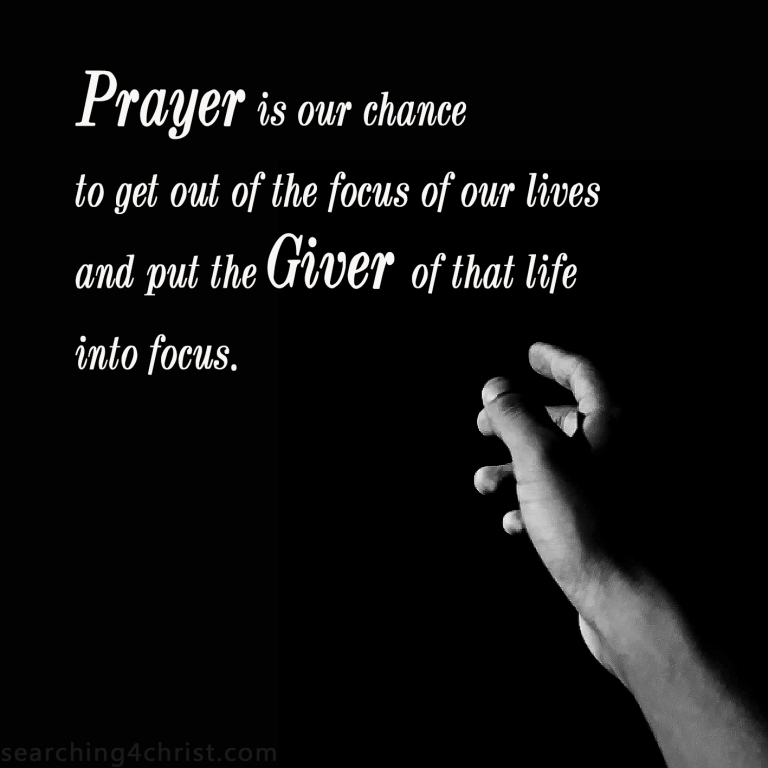 Prayer Is Our Chance